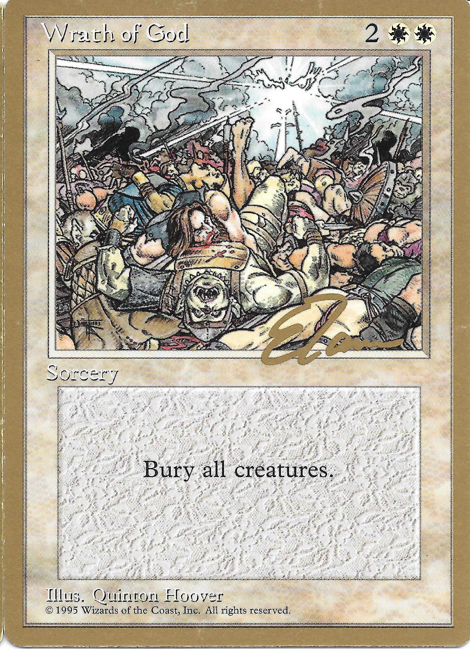 FOIL] Wrath of God (Full Art Textless) - Magic Player